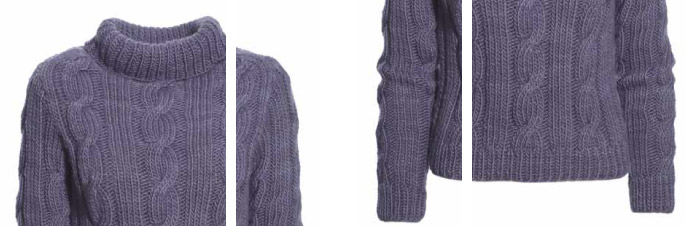 Sweater m snoninger opskrift thumb